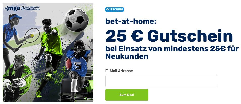 bet at home: 25€ Amazon Gutschein bei nur 25€ Einzahlung + 50% Bonus bis 100€ Einzahlung