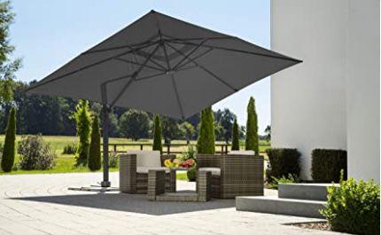 Schneider Rhodos Sonnenschirm in Anthrazit 400x300cm für 402,69€ (statt 519€)