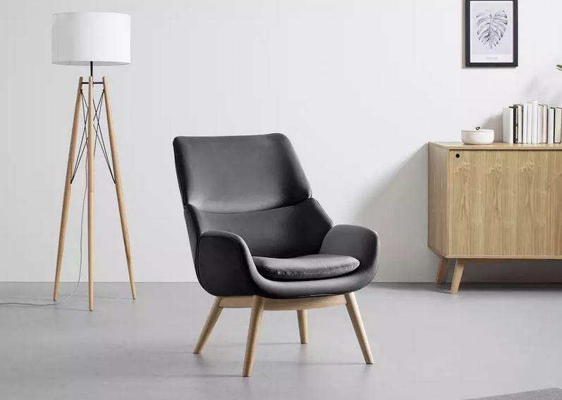 Bessagi Home Felia Loungesessel in Samtoptik für 188,30€ (statt 269€)