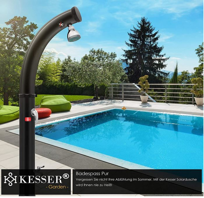 KESSER Solar 20L Garten  u. Pooldusche mit Wasseranschl. für 99,80€ (statt 130€)