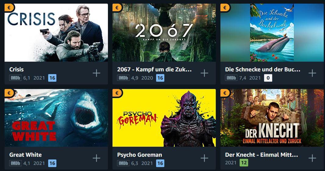 Amazon Prime Video: über 200 Filme für je 0,99€ in HD ausleihen