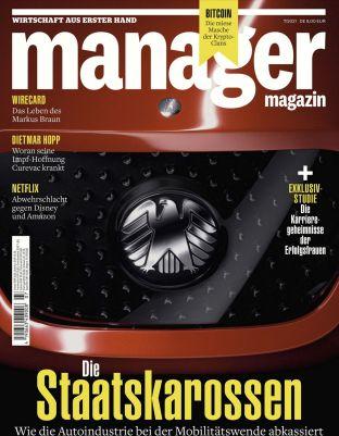 6 Ausgaben Manager Magazin für 54€ + Prämie: 50€ Bestchoice Gutschein
