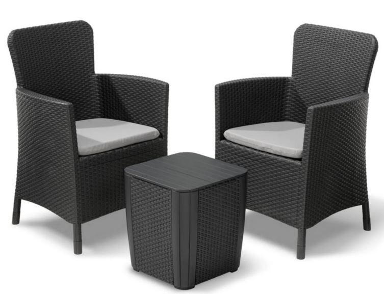 Alibert Miami 2 Stühle + Tisch Polyrattan für 109,99€ (statt 130€)
