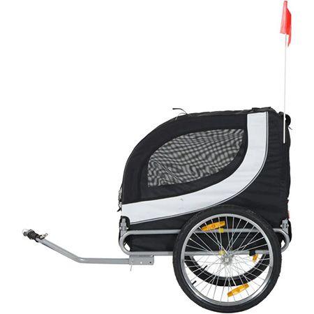 PawHut Fahrradanhänger für Hunde weiß/schwarz 78x73x94cm für 88,89€ (statt 144€)