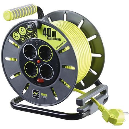 Masterplug Pro-XT Kabeltrommel – 4 Steckdosen und 40 Meter Kabel für 32,29€ (statt 44€)