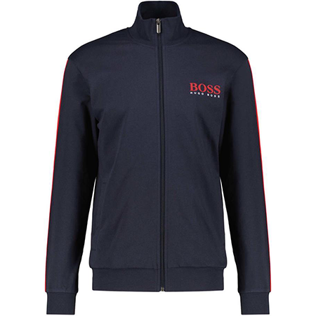 """BOSS Herren Loungewear-Sweatjacke """"Authentic Jacket Z"""" in Marine für 57,72€ (statt 90€) – M & L"""