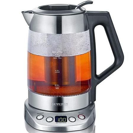 Severin WK 3479 1,7 Ltr. Glas Tee /Wasserkocher Deluxe für 48,40€ (statt 60€)