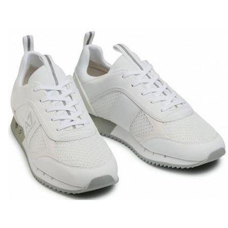 Emporio Armani EA7 (X8X027 XK050 00175) Sneaker in Weiß/Silber für 128€ (statt 160€)