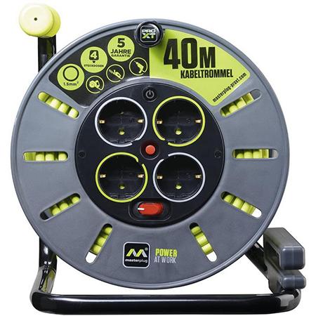 Masterplug Pro XT Kabeltrommel   4 Steckdosen und 40 Meter Kabel für 32,29€ (statt 44€)