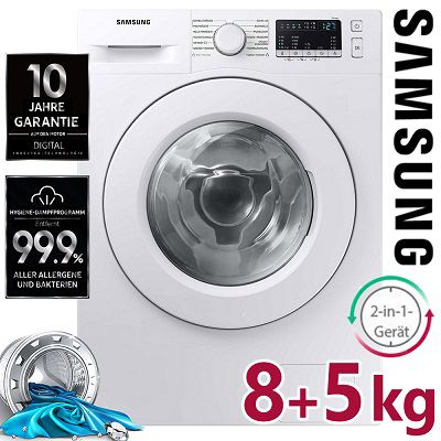 Samsung WD8FT4049EE/EG Waschtrockner (8 kg Waschen / 5 kg Trocknen) für 399,99€ (statt 499€)