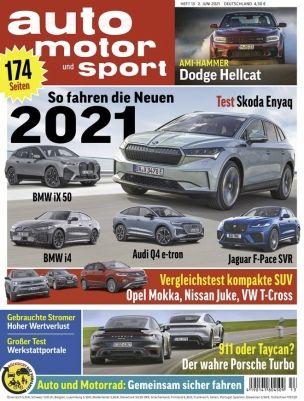 6 Ausgaben auto motor und sport für 29,70€ + Prämie: 30€ Amazon Gutschein
