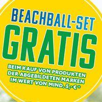 Mit dem Kauf von ausgewählten Produkten Beachball-Set gratis