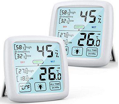 NIXIUKOL Hygro- & Thermometer im Doppelpack ab 11,99€ (statt 24€) – Prime