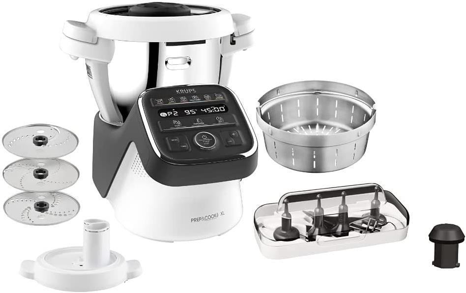 Krups Prep & Cook XL HP50A8   Küchenmaschine mit Kochfunktion für 474,99€ (statt 599€)