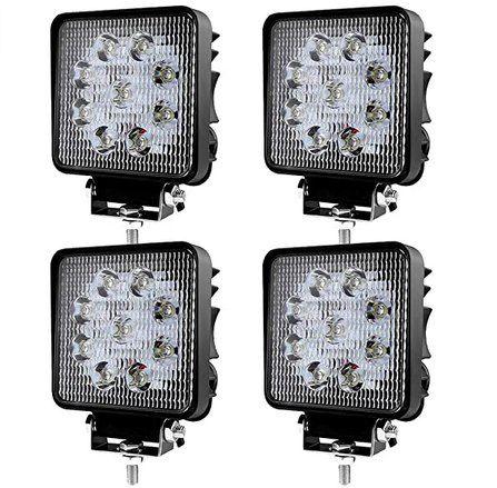 4x 27W LED Arbeitsscheinwerfer für 17,49€ (statt 25€) – Prime