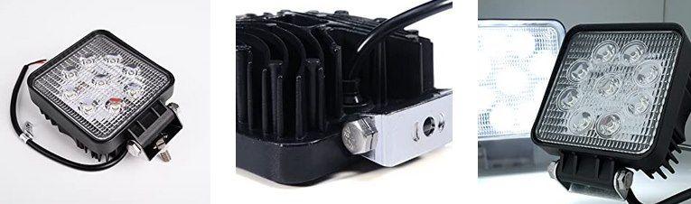 4x 27W LED Arbeitsscheinwerfer für 17,49€ (statt 25€)   Prime