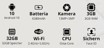 Blackview Tab 8E   10.1 Zoll Tablet mit Android 10 & 32GB für 103,94€ (statt 140€)