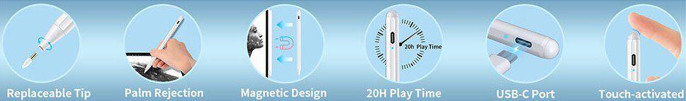 MPIO Stylus Stift 2. Generation mit Palm Rejection für Apple iPad für 19,79€ (statt 33€)
