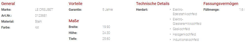 LE CREUSET Retro Wasserkessel Kone in Kirschrot für 53,94€ (statt 62€)