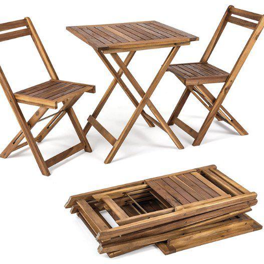 ESTEXO Balkonset mit 2 Stühlen & Tisch für 79,95€ (statt 90€)