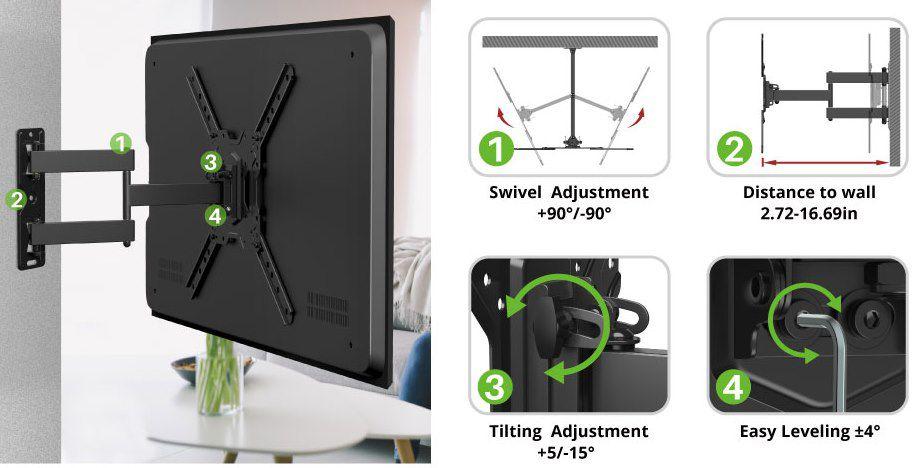USX MOUNT TV  & Monitorhalterung für 26 bis 55 Zoll & max 35kg für 14,99€ (statt 30€)