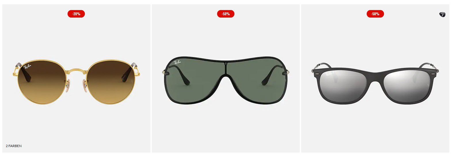 RayBan bis zu 50% auf verschiedene Sonnenbrillen & Gratis Express Versand