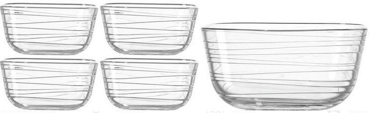 Leonardo Schalen Set Struktura 5 tlg. aus Glas für 13,95€ (statt 24€)