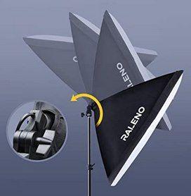 Raleno PS40   2er Set Softboxen inkl. Leuchtmittel, Stativ & Tasche für 39,59€ (statt 66€)