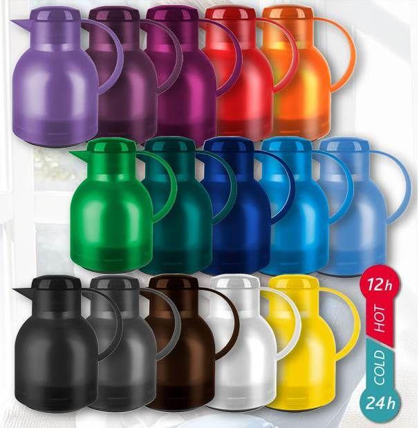 EMSA SAMBA Quick Press Thermoskanne (1L) in vielen Farben für je 9,99€ (statt 14€)