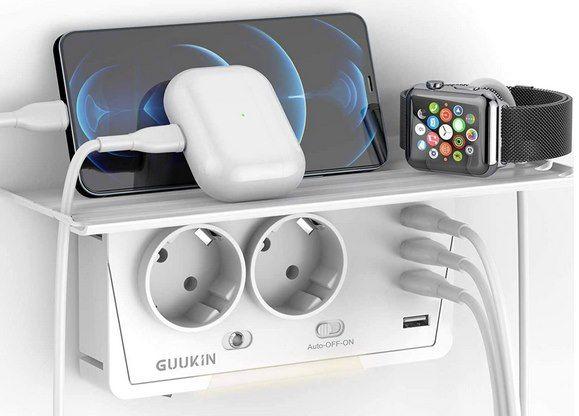 GUUKIN USB Steckdose mit 2 Steckdosen & 4 USB Ports für 10,79€ (statt 18€)   Prime