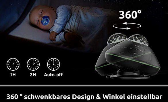 TATE GUARD LED Sternenhimmel mit 10 Farben, vielen Effekten & App Steuerung für 23,49€ (statt 47€)