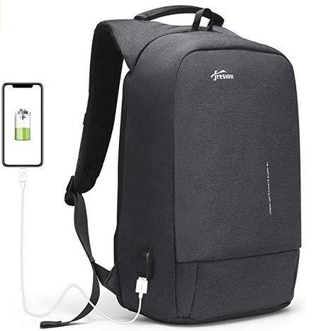 Fresion Anti Diebstahl Rucksack mit USB-Port & 28L für 18€ (statt 60€)