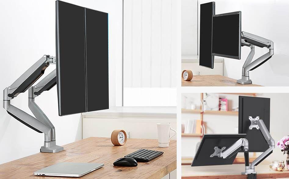 ErGear Halterung für 2 Monitore mit je max. 8kg & bis 32 Zoll für 29,99€ (statt 70€)