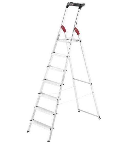 Hailo Haushaltsleiter L60 Standardline mit 7 Stufen & max 3,5m Arbeitshöhe ab 58,99€ (statt 94€)