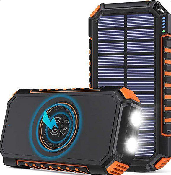 Hiluckey Wireless Solar Powerbank 26800mAh für 27,19€ (statt 53€)