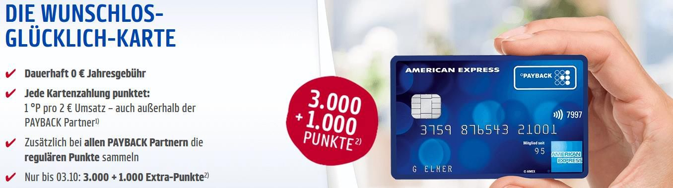 🔥 Payback American Express Kreditkarte dauerhaft kostenlos (ApplePay fähig) + bis 4.000 Punkte (40€) geschenkt