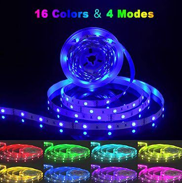 5m Aogled LED Streifen mit Netzteil & Fernbedienung für 6,79€ (statt 13€)