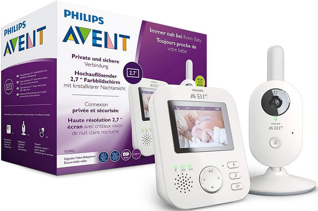 Philips AVENT SCD833/26 Video Babyphone für 115,19€ (statt 142€)