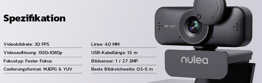 NULAXY C902 1080p Webcam für 16,19€ (statt 27€)   Prime
