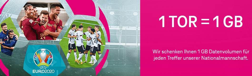 Telekom: pro Tor der deutschen Nationalmannschaft gibt  es 1 GB geschenkt