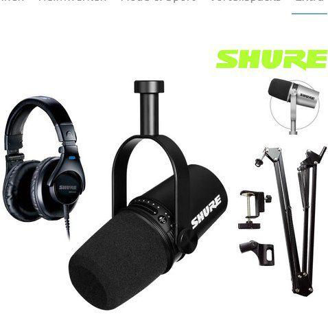 Shure MV7-K Podcast-Mikrofon-Bundle für 235,90€ (statt 394€)