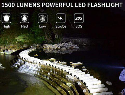PeetPen L21 LED Taschenlampe mit 1500 Lumen & 5 Modi für 10,19€ (statt 20€)   Prime