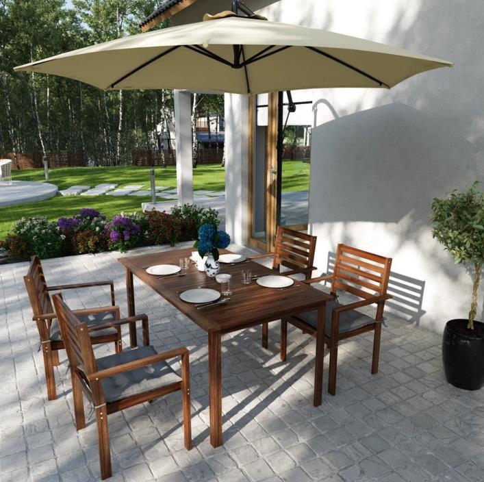 Jardi Shedo Pendel Sonnenschirm 244x316 cm für 66,29€ (statt 78€)