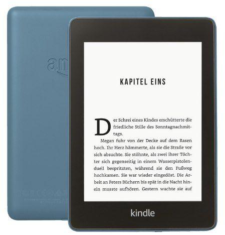 Kindle Paperwhite (2018) 8GB WLAN mit Spezialangeboten in Blau, Grün oder Schwarz für je 79,99€ (statt 103€)