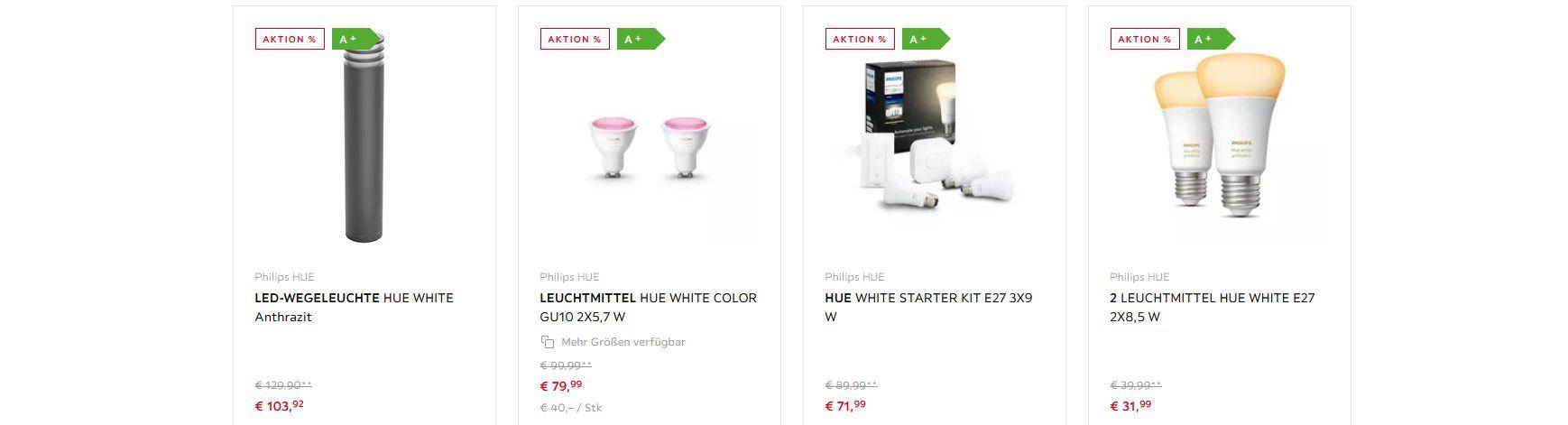 XXXLutz: Philips Hue Angebote   z.B. Wandleuchte Hue für 126,87€ (statt vorher 140€)