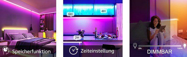 2x 10m Olafus LED Streifen mit Fernbedienung für 17,99€   Prime