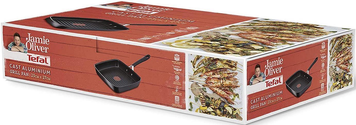 Tefal E21741   Jamie Oliver   Rechteckige Grillpfanne für 39,99€ (statt 50€)