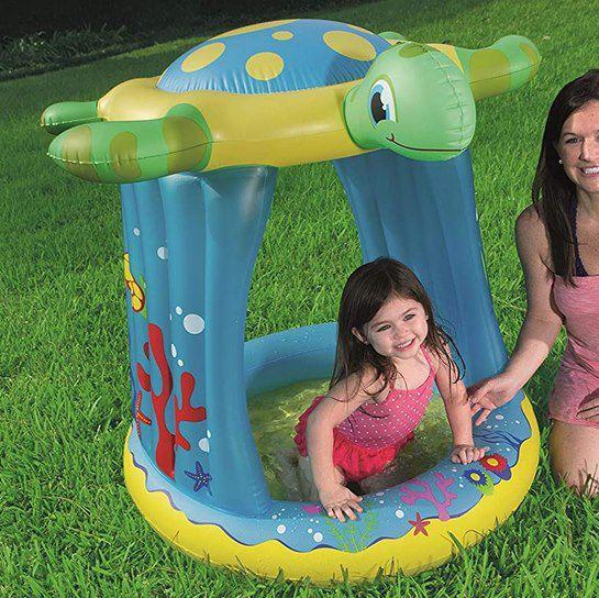 Bestway Planschbecken Schildkröte mit Sonnendach für 16,94€ (statt 24€)