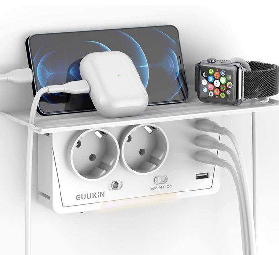 GUUKIN USB Steckdose mit 2 Steckdosen & 4 USB Ports für 10,79€ (statt 18€) – Prime
