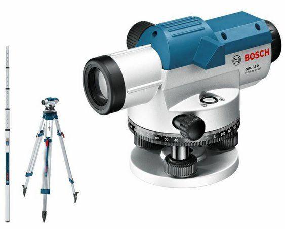 Bosch Optisches Nivelliergerät GOL 32 D inkl. Stativ & Messlatte für 205,22€ (statt 245€)